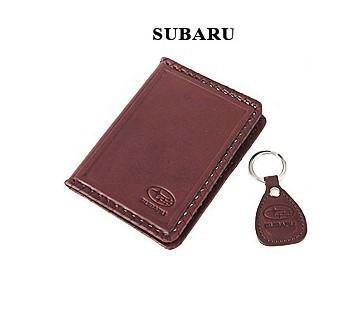 Обложка для водительского удостоверения с брелком SUBARU