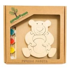 Развивающая игрушка Мишка с красками