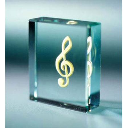 Стеклянная табличка «Музыка - это жизнь...»
