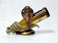 Подставка для бутылки Змея золотая