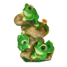 Декоративная садовая фигура Лягушата на камнях