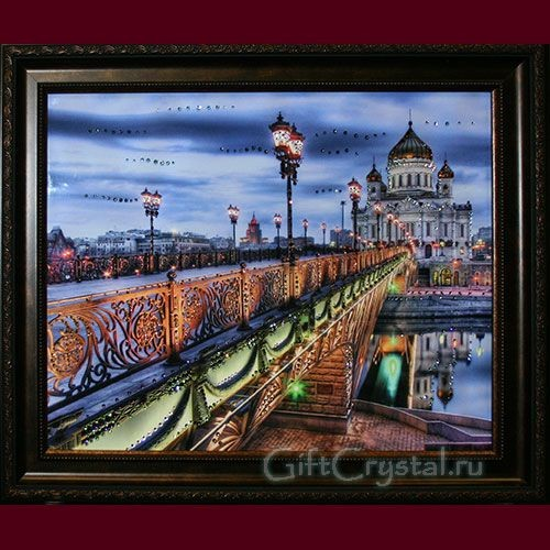 Картина с кристаллами Swarovski Патриарший мост