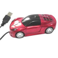 Мышь для ПК в виде автомобиля, красная