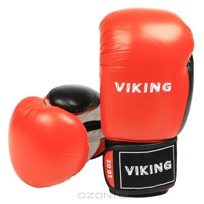 Боксерские перчатки Viking, 10 унций (2410-10), красные, белые