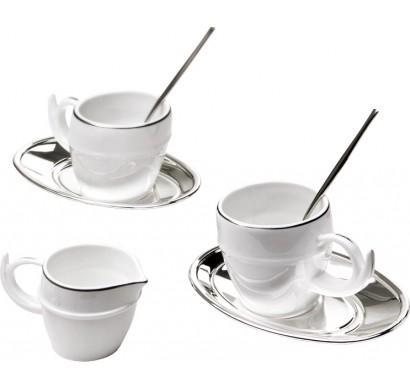 Сервиз кофейный Ricciolo на две персоны, серебро