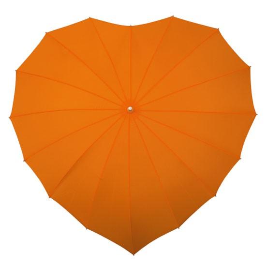 Зонт «Сердце» оранжевый