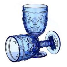 Набор из 6 бокалов из синего стекла Greenish