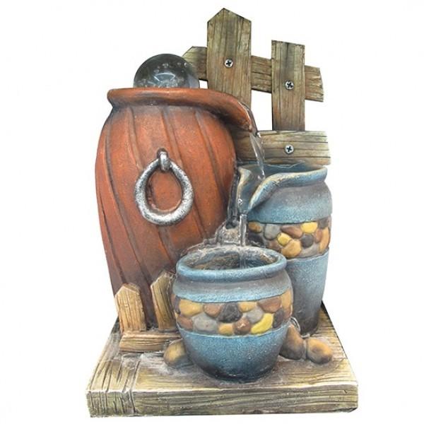 Настольный декоративный фонтан Сосуды с подсветкой