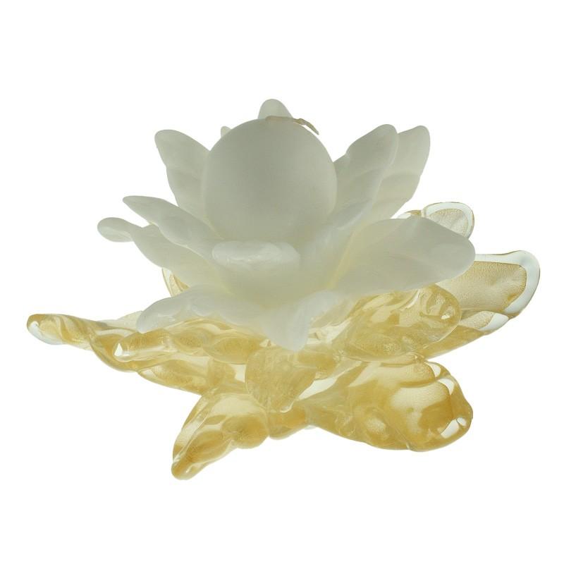 Подсвечник Цветок золотой с белым