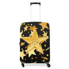 Чехол на чемодан Желтые звезды