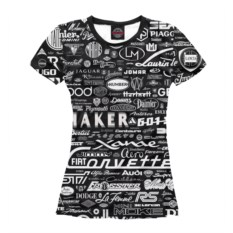 Женская футболка Марки