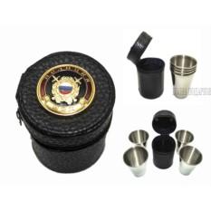 Набор стопок в кожаном чехле с символикой Полиция