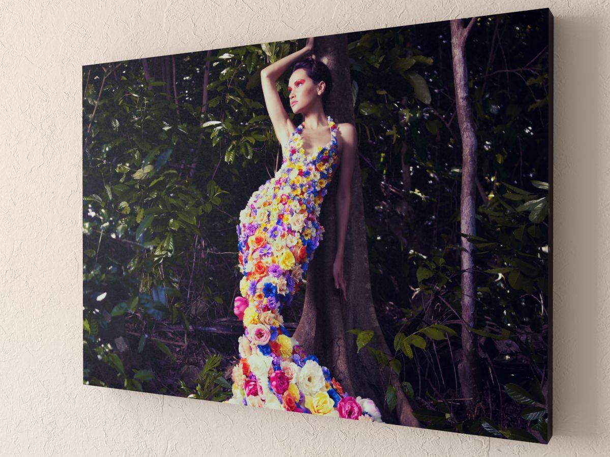 Фотокартина Девушка-цветы