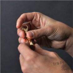 Флешка-пуля с гравировкой (золотая), 4 Гб
