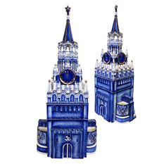 Штоф «Башня Кремля» с золотом