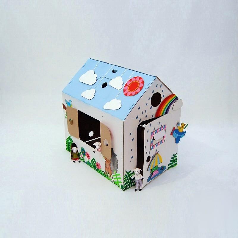Картонный домик для детей Зимний