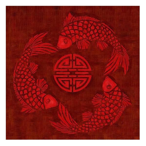 Картина Три рыбки (борд.)