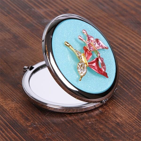 Зеркальце с гравировкой, голубое
