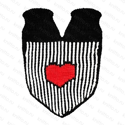 Варежки для влюбленных Красное сердце