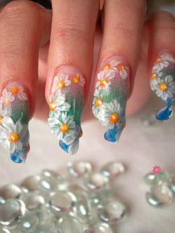 «Водопадный дизайн ногтей»