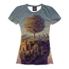 Женская футболка с деревом Psychedelic