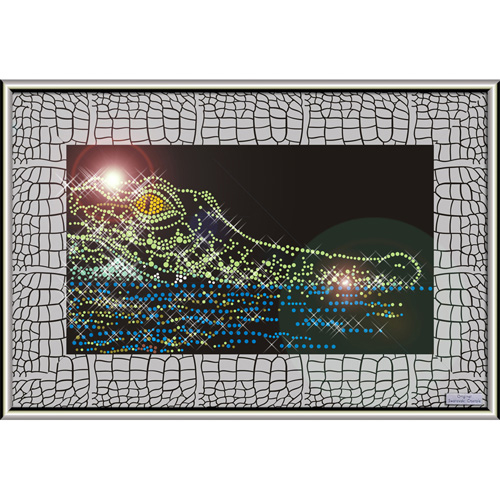 Картина swarovski «Крокодил»