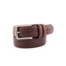 Коричневый мужской кожаный ремень G.Ferretti тип 91-3