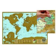 Скретч-карта мира (Россия с Крымом)