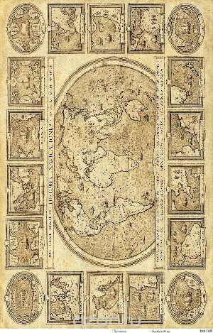 Рисовая карта для декупажа Кустарь Старинная карта мира №6