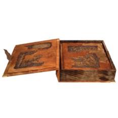 Подарочная книга Охота в коробе с деревянными вставками