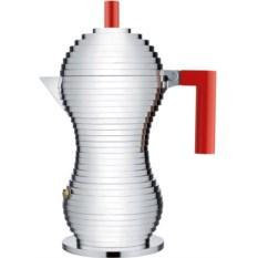 Красная кофеварка для эспрессо Pulcina 0.3 л