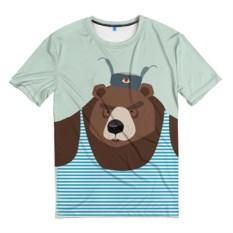 Мужская 3D-футболка Русский медведь