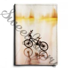 Кожаная обложка для паспорта Bicycle