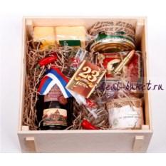 Подарочный набор с сыром и текилой 23 февраля