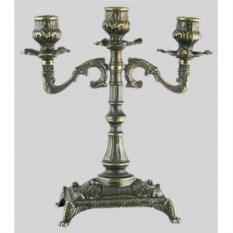 Канделябр из латуни на 3 свечи