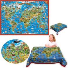 Детская скатерть «Карта мира для детей»