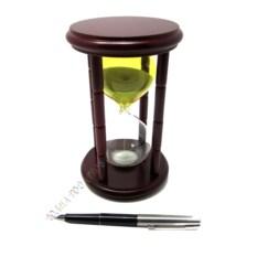 Песочные часы на 15 минут (желто-белые)ё