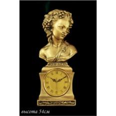 Декоративные настольные часы с бюстом