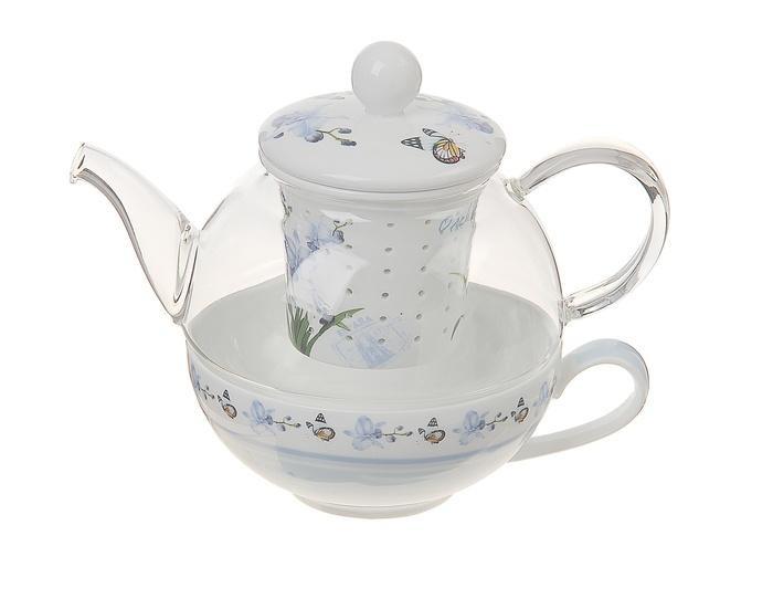 Заварочный стеклянный чайник Оттепель