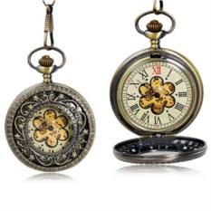 Карманные часы с крышкой Цветок