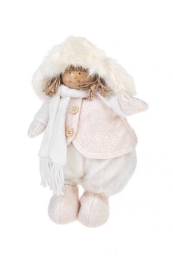 Декоративная кукла Малышка шапке-ушанке и шарфике