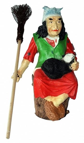 Садовая фигура Баба Яга на ступе