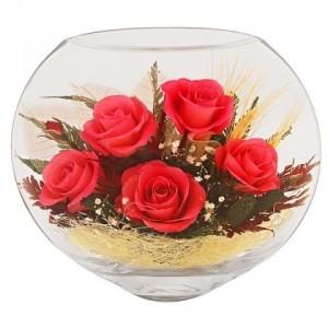 Живые цветы Розовые сны