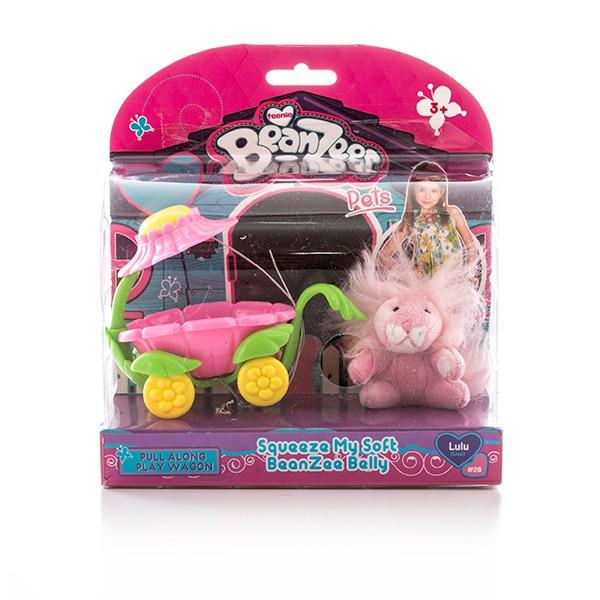 Игровой набор Beanzeez Плюшевый львенок в вагончике