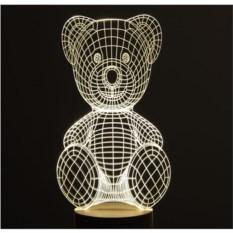 3D-лампа Мишка