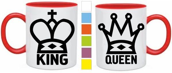 Парные кружки King. Queen