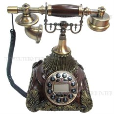 Декоративное изделие Телефон (цвет — медный)
