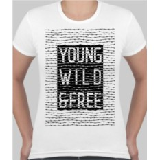 Женская футболка Young wild and free