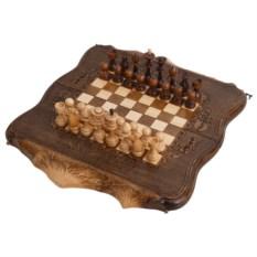 Средние резные шахматы и нарды Арарат