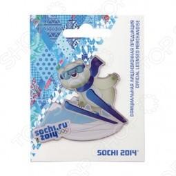 Магнит Sochi 2014 «Лыжи с Белым Мишкой»